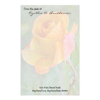Muted Yellow Rose Personalized Stationery