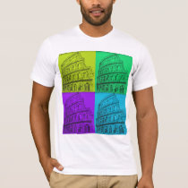 Muti Color painting on white T-Shirt