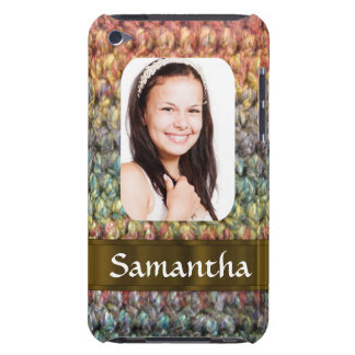 Muticolored wool photo template iPod touch cover