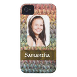 Muticolored wool photo template Case-Mate iPhone 4 cases