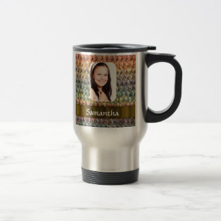 Muticolored wool photo template travel mug