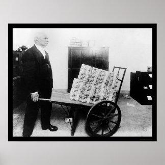 Mutilated Money on Wheelbarrow 1920 Poster