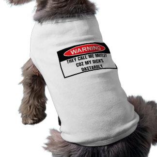 Mutley de cuidado camisetas mascota