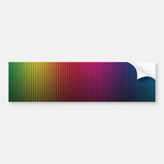 MUTLI-COLORED RAINBOW GRADIENT BACKGROUNDS STRIPES BUMPER STICKERS