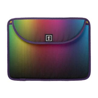 MUTLI-COLORED RAINBOW GRADIENT BACKGROUNDS STRIPES MacBook PRO SLEEVE