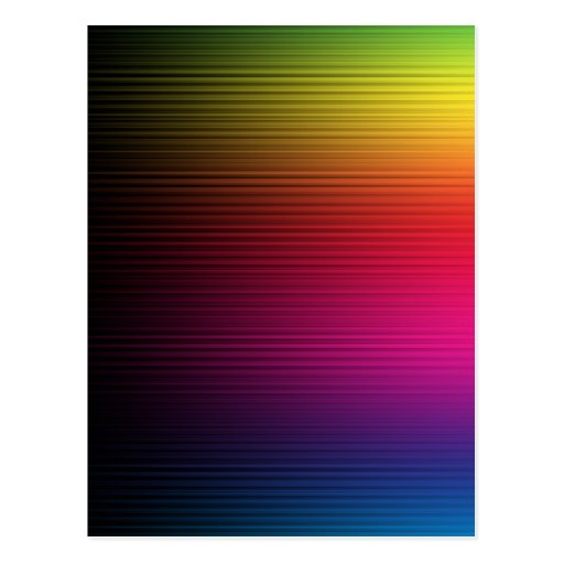 MUTLI-COLORED RAINBOW GRADIENT BACKGROUNDS STRIPES POST CARDS