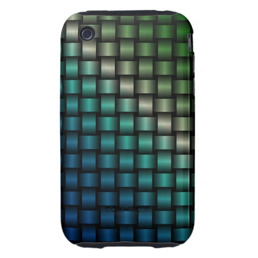 Mutlti-Colored Abstract Basket Weave Design 3 Tough iPhone 3 Cover