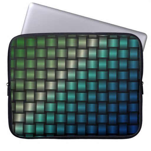 Mutlti-Colored Abstract Basket Weave Design 3 Laptop Computer Sleeves