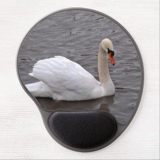 Mutre Swan on a Grey Lake Gel Mouse Pad