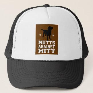 mutt against mitt trucker hat