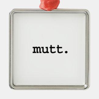 mutt. adorno de navidad