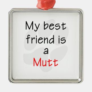 Mutt del mejor amigo… ornamento para reyes magos