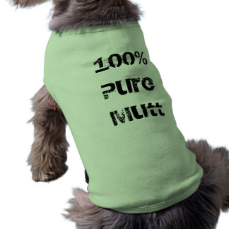 Mutt puro del 100% playera sin mangas para perro