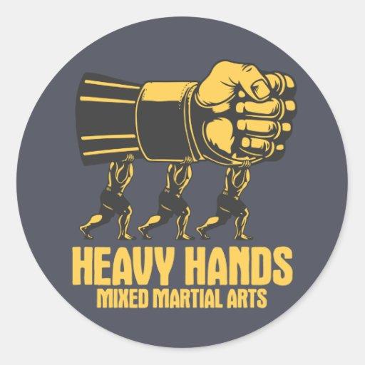 Muttahida Majlis-E-Amal pesado de las manos Pegatina Redonda