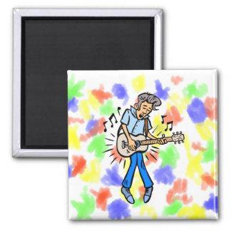 mutton hair guy guitar player blue.png fridge magnet
