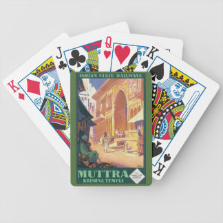 Muttra Krishna Temple Bicycle Playing Cards