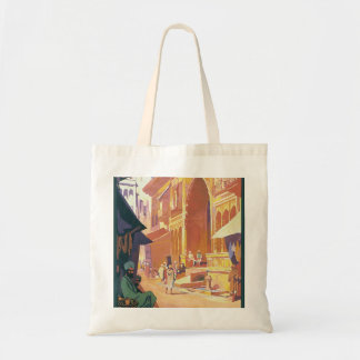 Muttra Krishna Temple Tote Bag