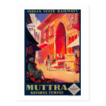 Muttra Krishna Temple Travel Poster Post Card