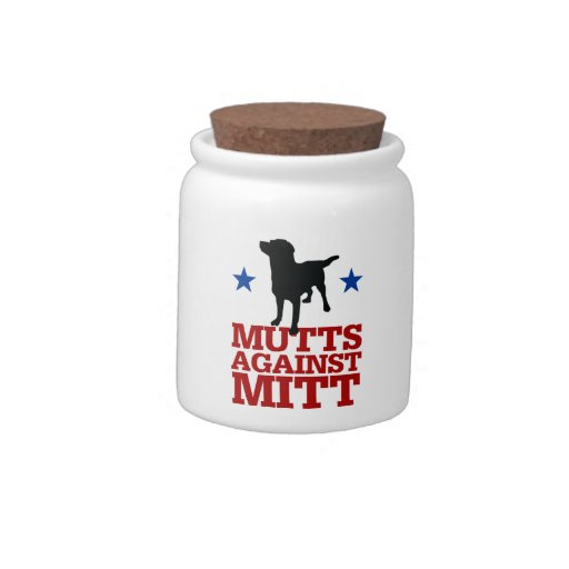 Mutts Against Mitt Candy Dish