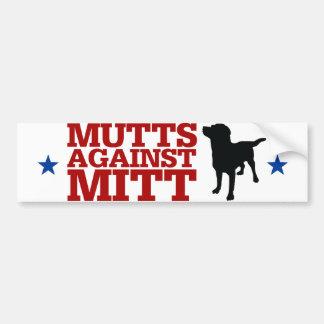 Mutts Against Mitt Car Bumper Sticker