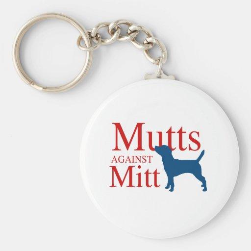 Mutts against Mitt Key Chains