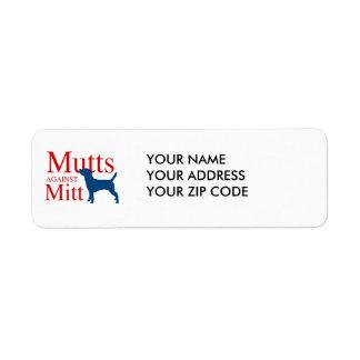 Mutts against Mitt Return Address Label