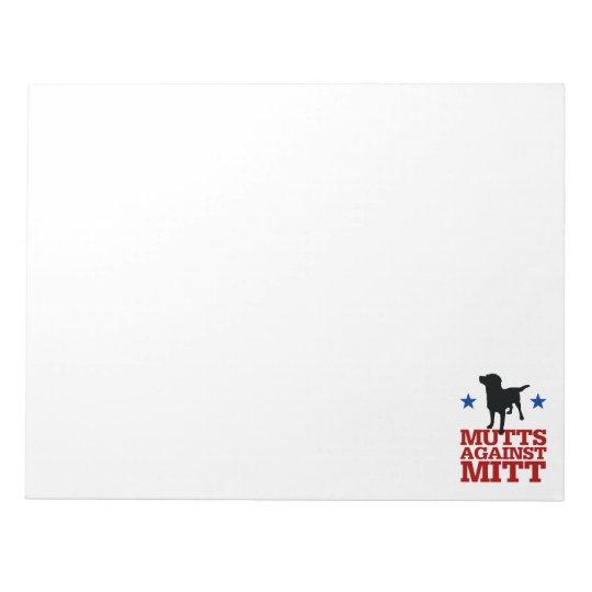 Mutts Against Mitt Notepad