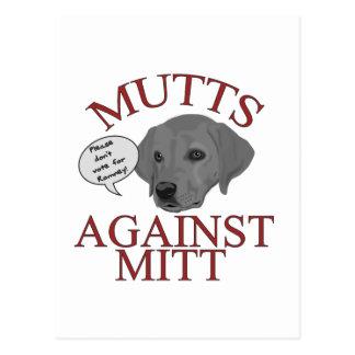 Mutts Against Mitt Postcard