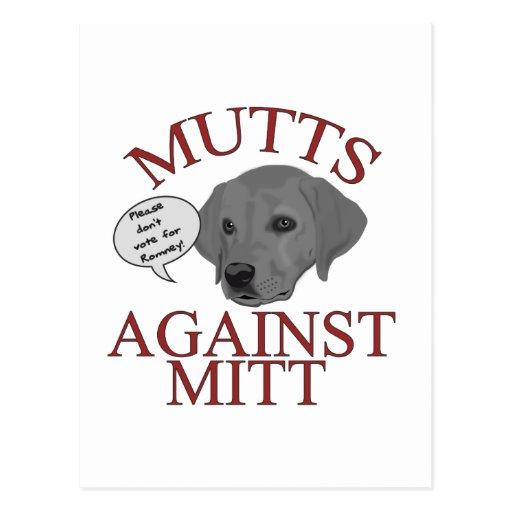 Mutts Against Mitt Postcards
