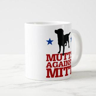 Mutts Against Mitt 20 Oz Large Ceramic Coffee Mug
