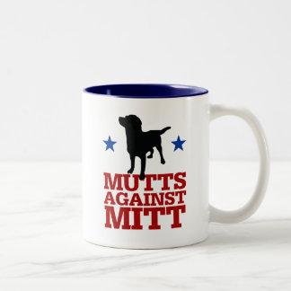 Mutts Against Mitt Two-Tone Coffee Mug