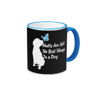 Mutts All The Best In A Dog! Ringer Coffee Mug