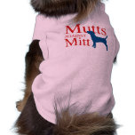 Mutts contra el mitón camisetas de mascota
