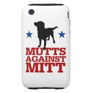 Mutts contra el mitón tough iPhone 3 cárcasas