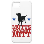 Mutts contra el mitón iPhone 5 protectores
