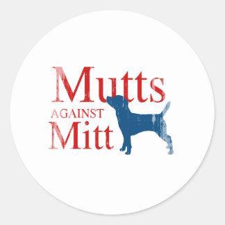 Mutts contra Mitt.png Pegatina Redonda
