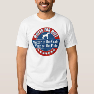 Mutts for Mitt - In the Crate Not on the Plate T Shirt
