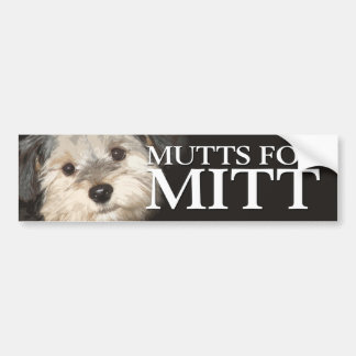 Mutts for Mitt Romney Bumper Sticker