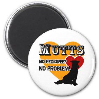 Mutts: No Pedigree? No Problem! 2 Inch Round Magnet