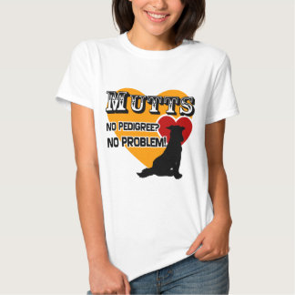 Mutts: ¿No pedigrí? ¡Ningún problema! Playeras