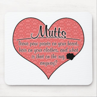 Mutts Paw Prints Dog Humor Mouse Pad
