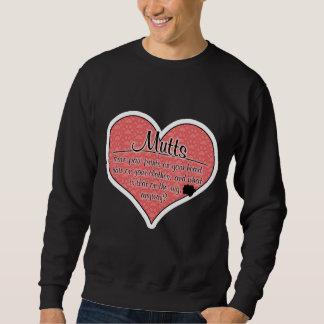 Mutts Paw Prints Dog Humor Sweatshirt