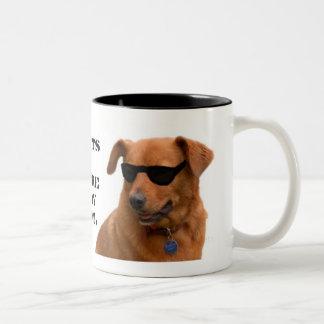 Mutts, We're Way Cool Two-Tone Coffee Mug