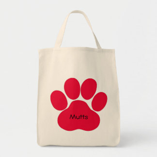 Mutts with Pawprint Tote Bag