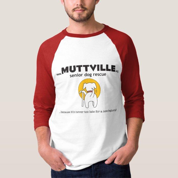 Muttville Men's Raglin T-Shirt
