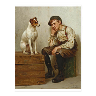 Mutual Admiration ~ Shoe Shine Boy ~ 1898 Postcard