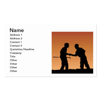 Mutual Respect Business Card Template