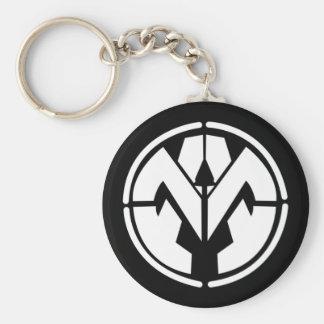 Mutualism pin keychain