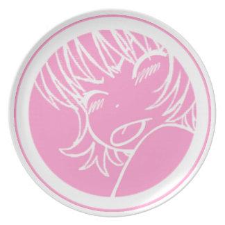 muuhh - cute anime waifu - kawaii >_< sakura plate