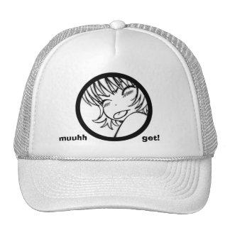 muuhh get! cute anime trucker hat